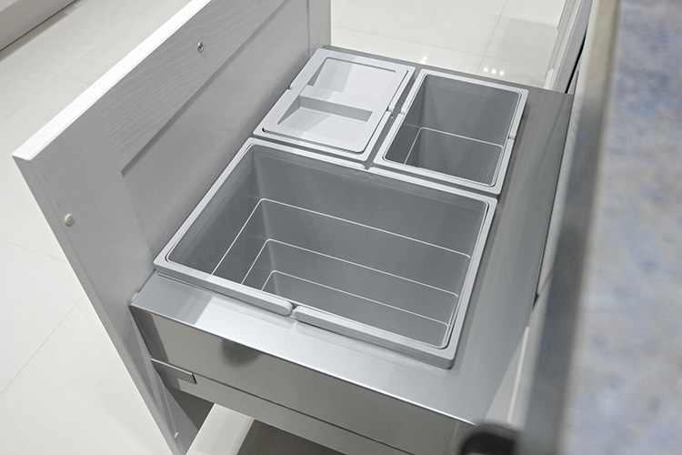 kitchen craftsmen inspiration blog recycling bins under cabinet