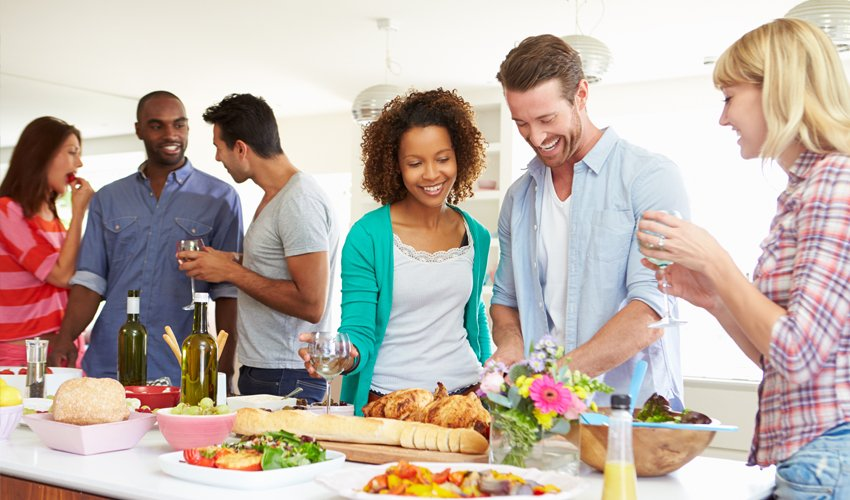 dinner party to show off your new kitchen