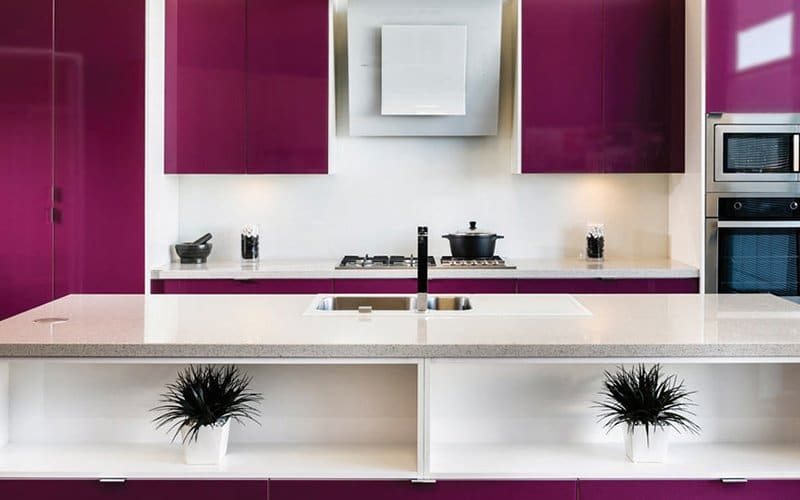 colourful purple kitchen inspiration