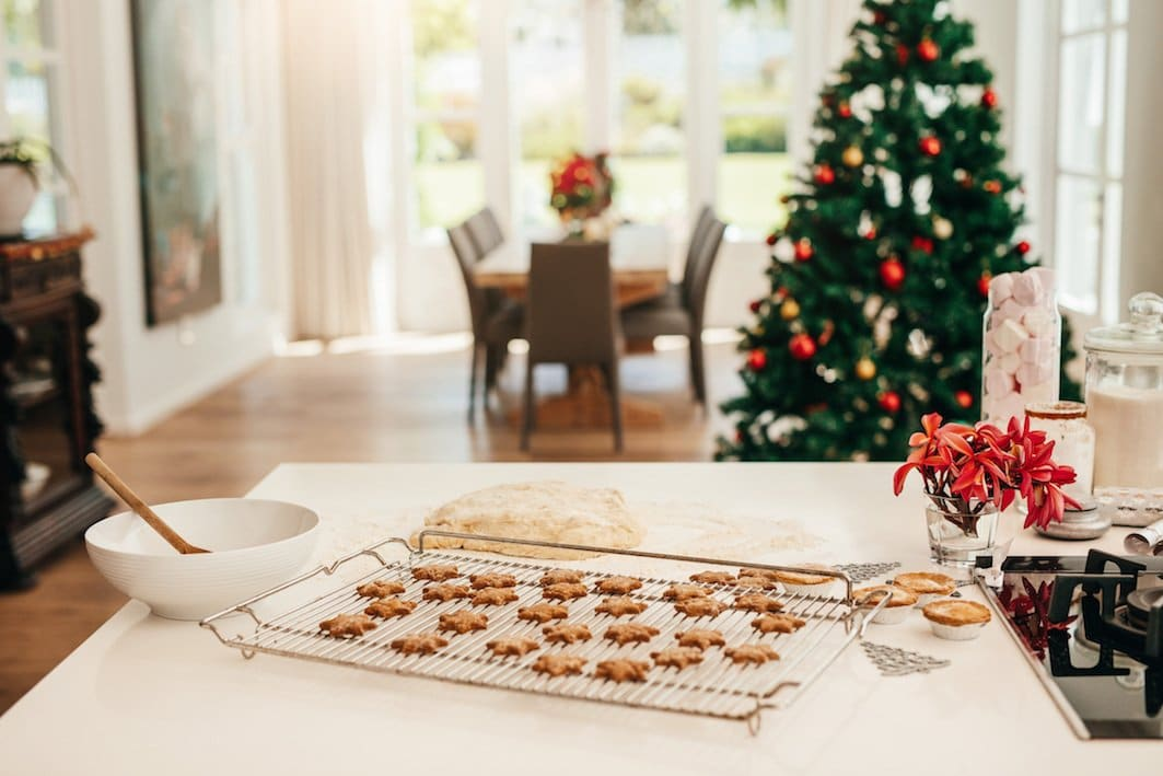 gingerbread cookies in kitchen christmas celebration
