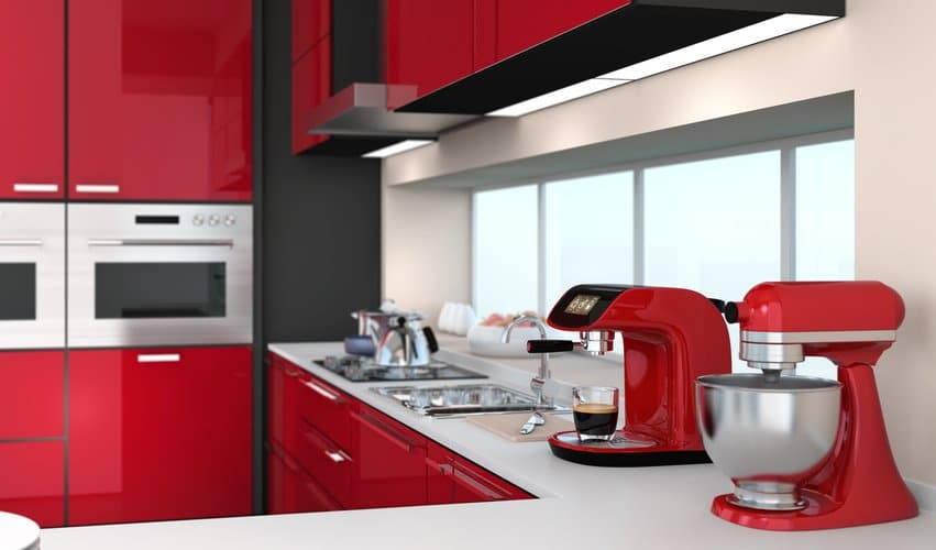 red kitchen design 3