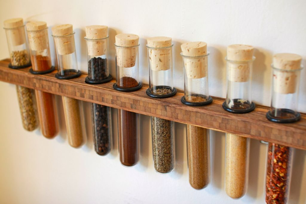 Spice Rack using Test Tubes