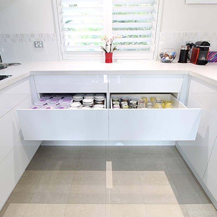 drawers under kitchen sink