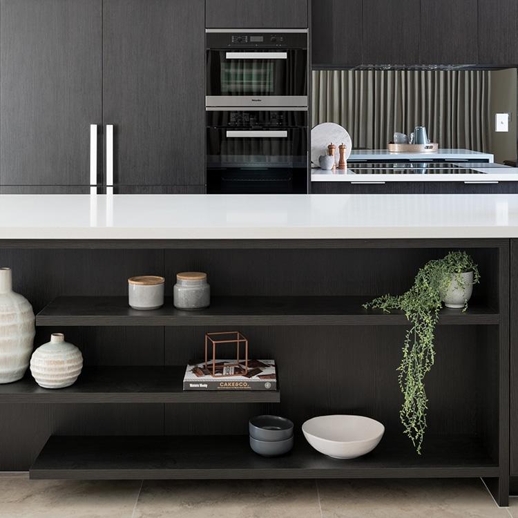 open kitchen cabinets