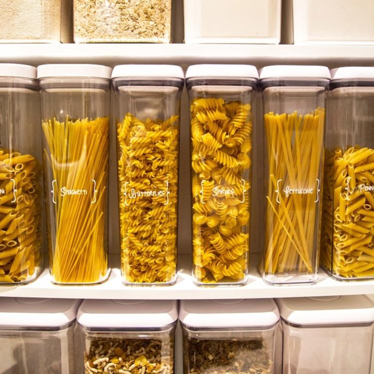pasta stored in kitchen