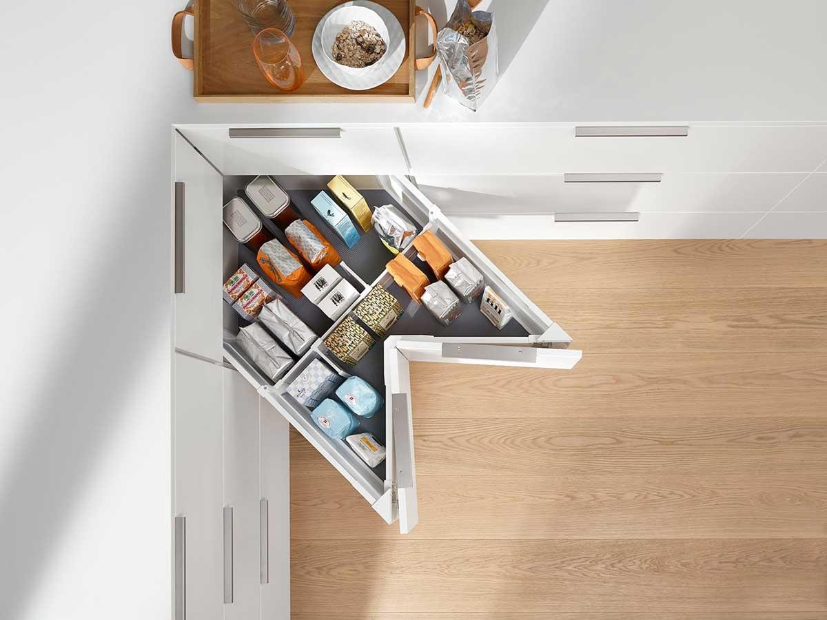 organised corner drawers