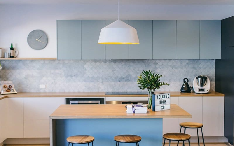 blue kitchen fronts