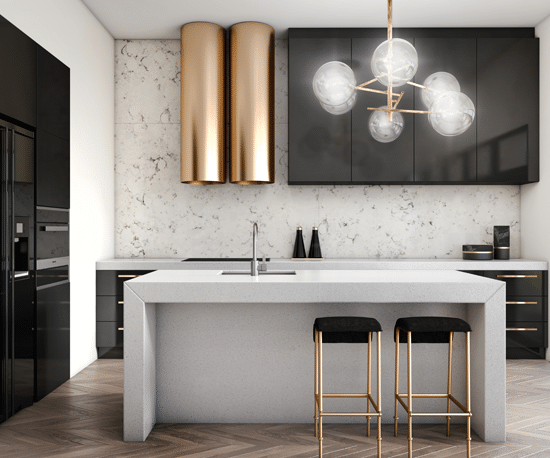 classic style kitchen laminex copper sm 1