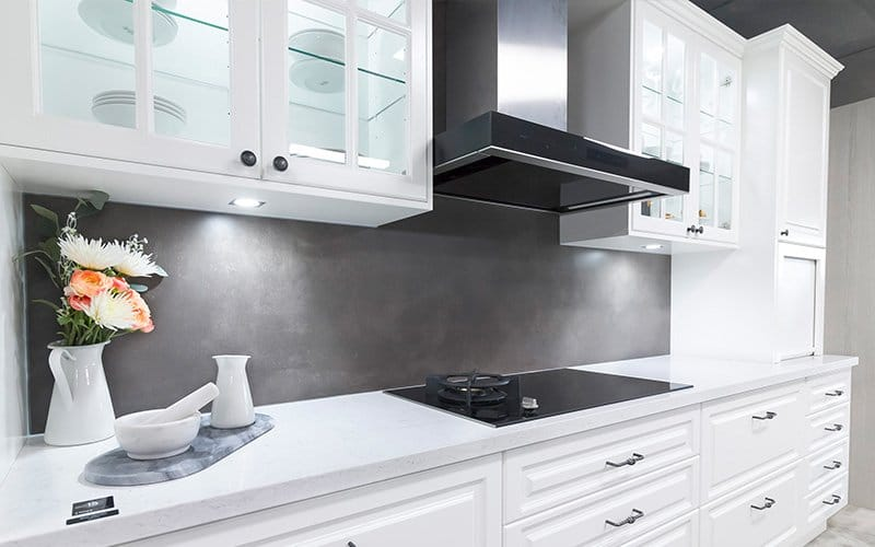 cooktop and cabinet