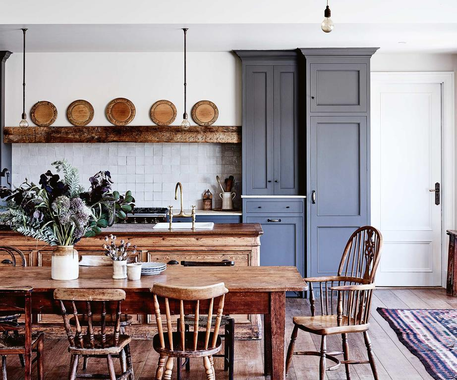 Kitchen Craftsmen Renovation kitchen with wooden table