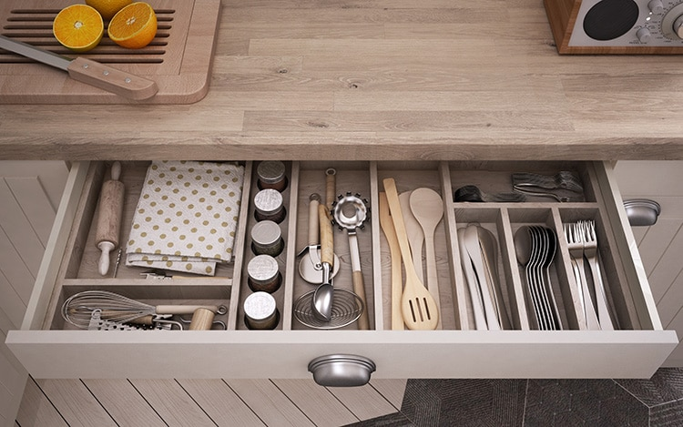 kitchen craftsmen organisation tips drawer dividers