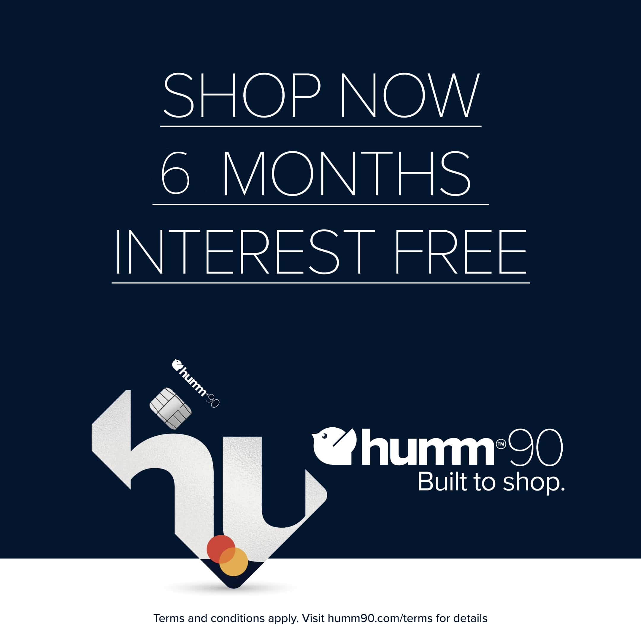 shop now months interest free x blue