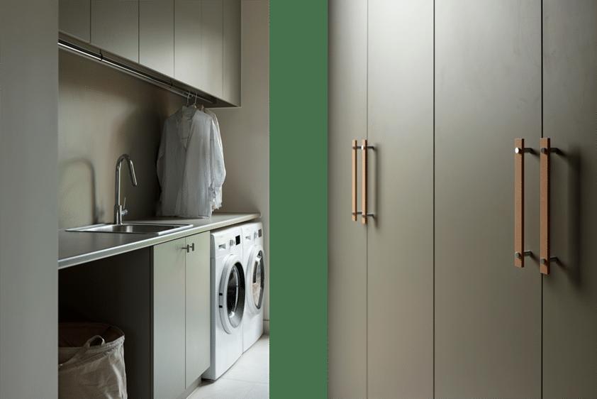 laminex green laundry